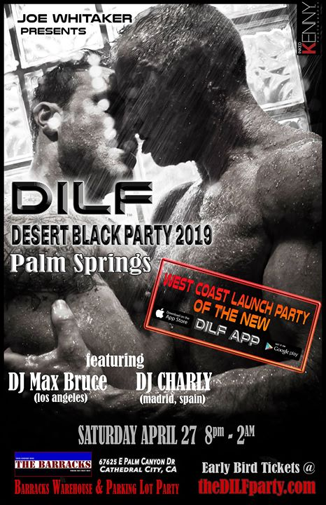 DILF Palm Springs Black Party 2019 by Joe Whitaker Presents em Cathedral City le sáb, 27 abril 2019 20:00-02:00 (Clubbing Gay)