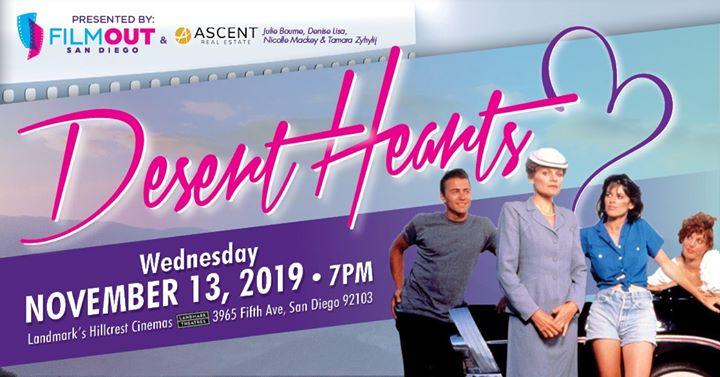 Desert Hearts a San Diego le mer 13 novembre 2019 19:00-21:30 (Cinema Gay, Lesbica, Trans, Bi)