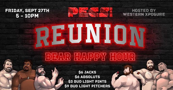San DiegoREUNiON Bear Happy Hour2019年 5月27日,17:00(男同性恋 下班后的活动)