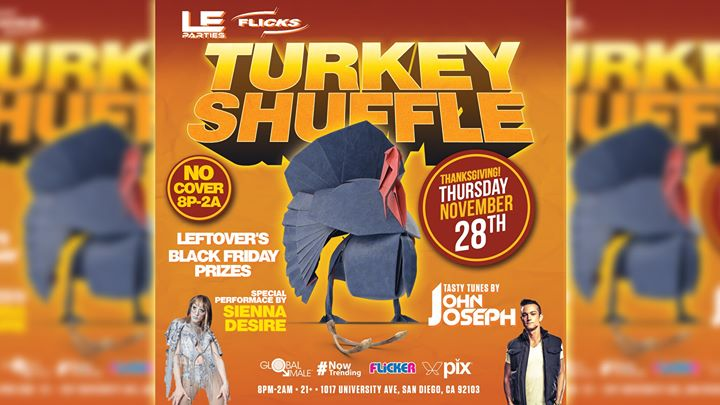 Turkey Shuffle in San Diego le Thu, November 28, 2019 from 08:00 pm to 02:00 am (Clubbing Gay)