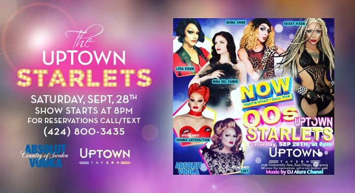 The Uptown Starlets Present – Now That's What I Call The 2000's! in San Diego le Sa 28. September, 2019 20.00 bis 21.30 (After-Work Gay)