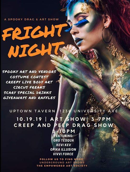 Fright Night- A Drag And Art Show à San Diego le sam. 19 octobre 2019 de 15h00 à 22h00 (Spectacle Gay)