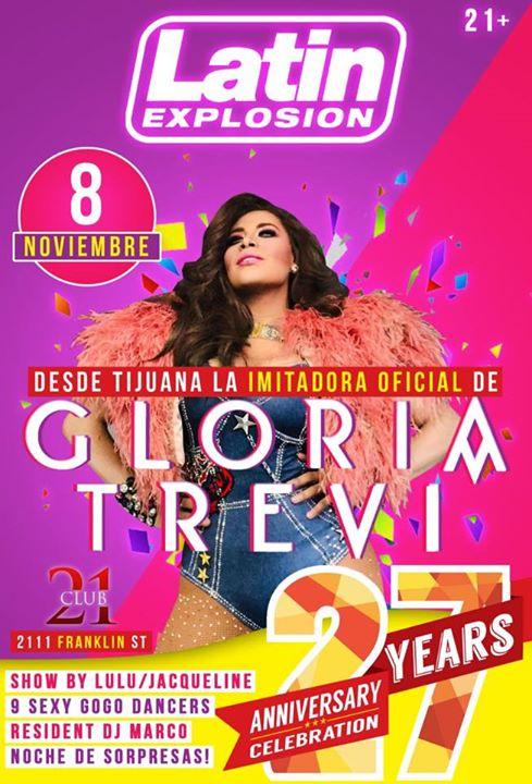 Latin Explosion 27th anniversary party. en Oakland le vie  8 de noviembre de 2019 21:00-03:00 (Clubbing Gay)