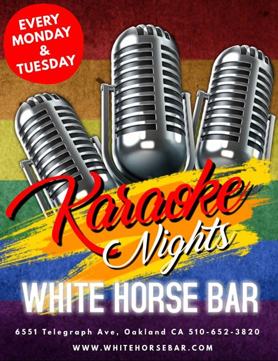 Karaoke Nights à Oakland le lun. 26 août 2019 de 19h00 à 23h00 (After-Work Gay)