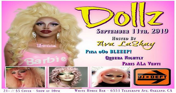 Dollz em Oakland le qua, 11 setembro 2019 21:30-23:30 (After-Work Gay)