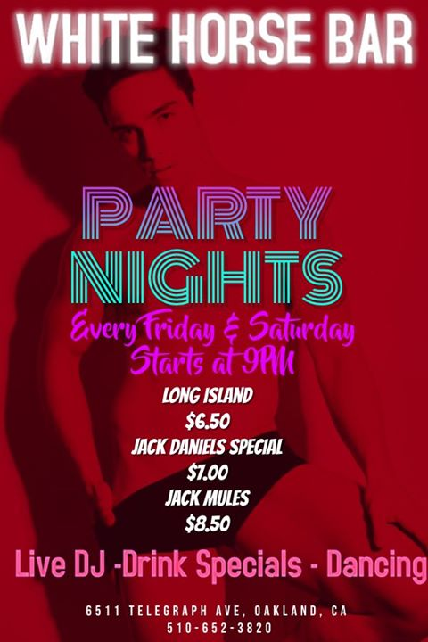 Party Nights à Oakland le ven. 19 juillet 2019 de 20h00 à 02h00 (Clubbing Gay)