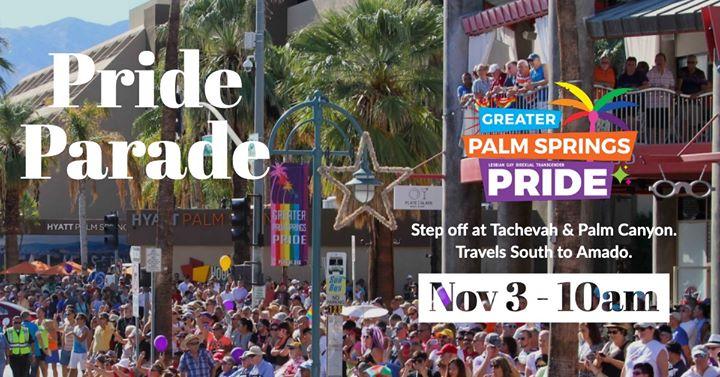 Palm Springs Pride Parade en Palm Springs le dom  3 de noviembre de 2019 10:00-12:00 (Festival Gay, Lesbiana, Trans, Bi)