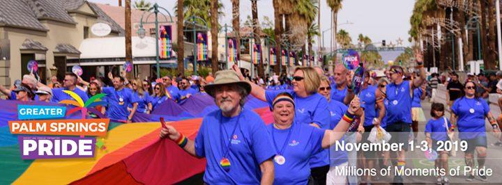 Pride Festival Palm Springs 2019┊lgbt Pride Weekend en Palm Springs del  1 al  3 de noviembre de 2019 (Festival Gay, Lesbiana, Trans, Bi)