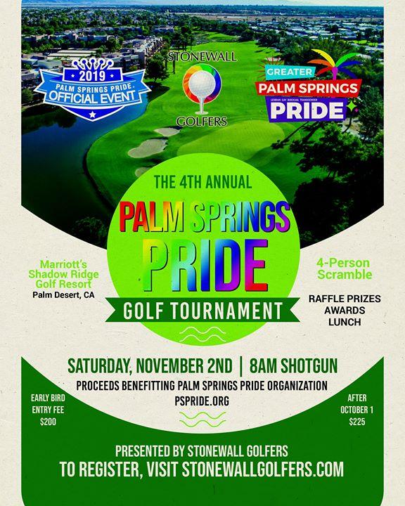 4th Annual Palm Springs Pride Golf Tournament en Palm Desert le sáb  2 de noviembre de 2019 07:00-14:00 (Festival Gay, Lesbiana, Trans, Bi)
