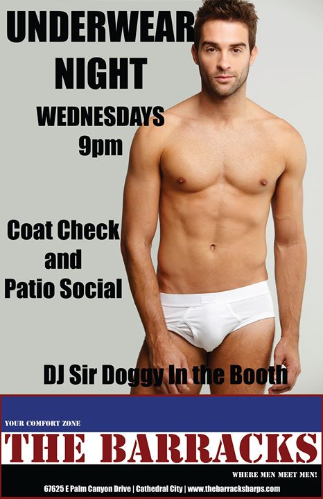 Underwear Night in Cathedral City le Mi  9. Oktober, 2019 20.00 bis 02.00 (Clubbing Gay)