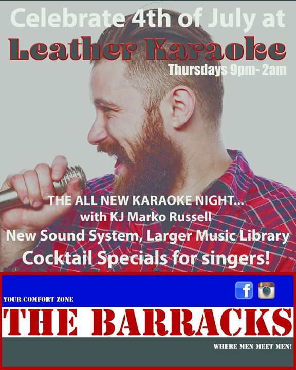 Leather Karaoke a Cathedral City le gio 28 novembre 2019 20:00-02:00 (Clubbing Gay)