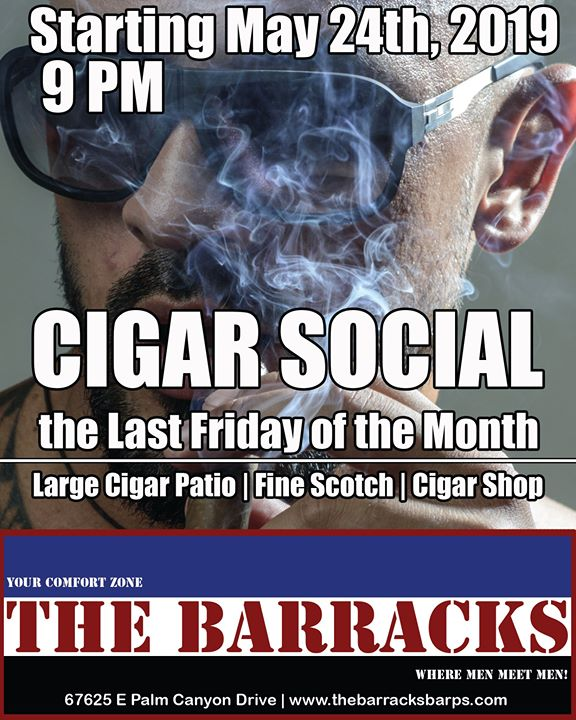 Cigar Social Night in Cathedral City le Fri, November 29, 2019 from 09:00 pm to 02:00 am (Clubbing Gay)