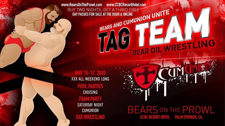 Tag Team - Bears on the Prowl 2020 in Cathedral City von 15 bis 17. Mai 2020 (Festival Gay)
