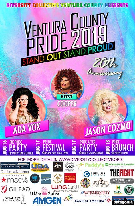 Ventura County Pride 2019 20th Anniversary Celebration in Ventura le Sat, August 17, 2019 from 11:00 am to 06:00 pm (Festival Gay, Lesbian, Trans, Bi)