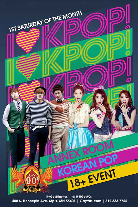 I Love KPop! in Minneapolis le Sat, December  7, 2019 from 08:00 pm to 03:00 am (Clubbing Gay)