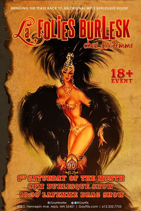 La Folies Burlesk chez LaFemme in Minneapolis le Sat, July  6, 2019 from 08:00 pm to 03:00 am (Clubbing Gay)