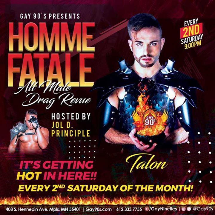 Homme Fatale All Male Drag Revue en Minneapolis le sáb  9 de noviembre de 2019 21:00-03:00 (Clubbing Gay)