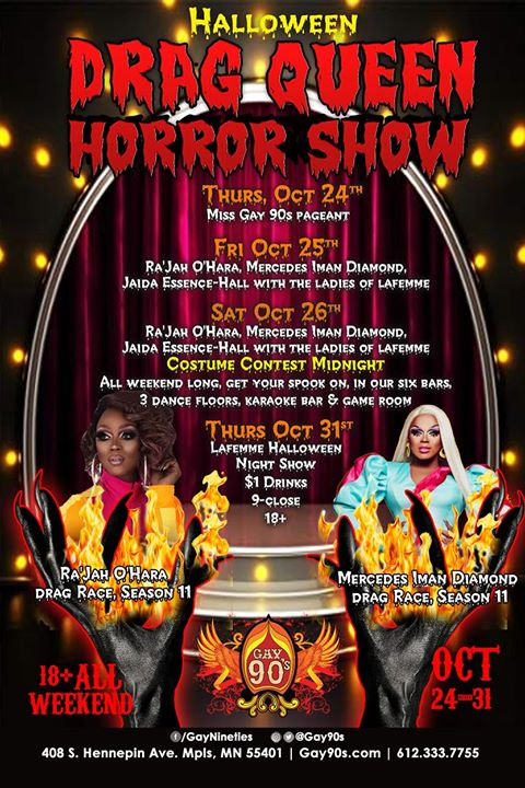Drag Queen Horror Show in Minneapolis le Thu, October 24, 2019 from 08:00 pm to 02:00 am (Clubbing Gay)