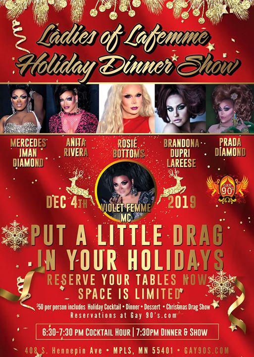Ladies Of LaFemme Holiday Dinner Show em Minneapolis le qua,  4 dezembro 2019 18:30-03:00 (Clubbing Gay)