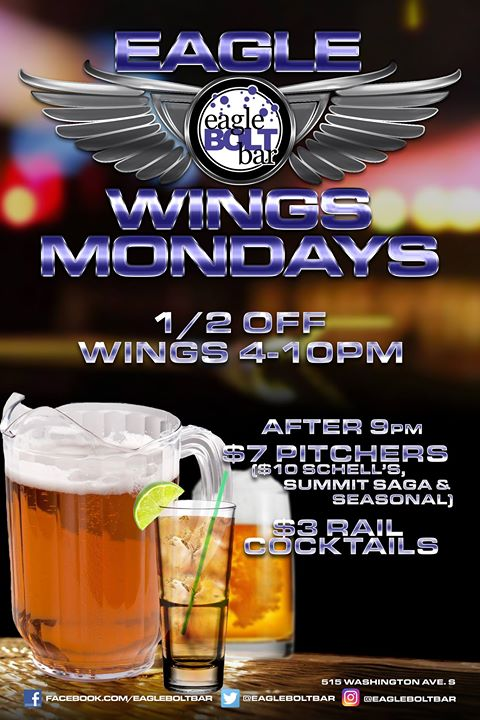 Mondays at the eagleBOLTbar a Minneapolis le lun 10 giugno 2019 21:00-02:00 (Clubbing Gay)