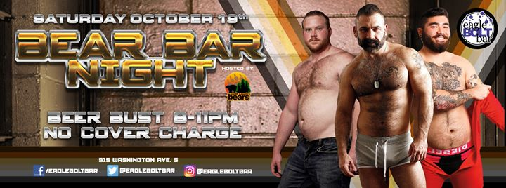 October Bear Night en Minneapolis le sáb 19 de octubre de 2019 20:00-23:00 (After-Work Gay)