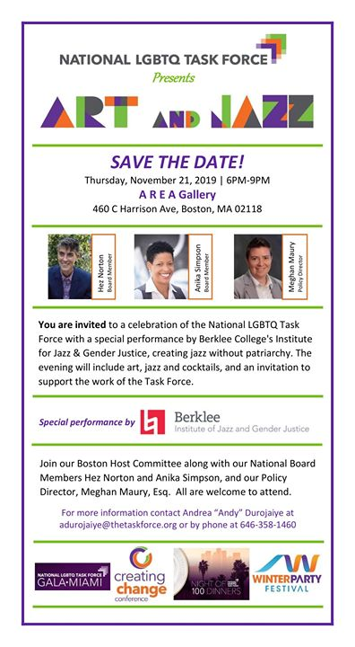 Task Force Boston Event in Boston le Do 21. November, 2019 18.00 bis 21.00 (After-Work Gay)