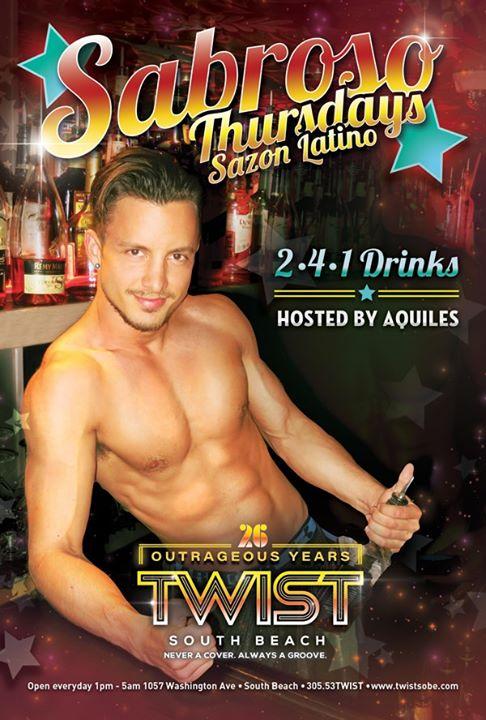 Sabroso Thursdays! en Miami le jue  7 de noviembre de 2019 22:00-05:00 (Clubbing Gay)