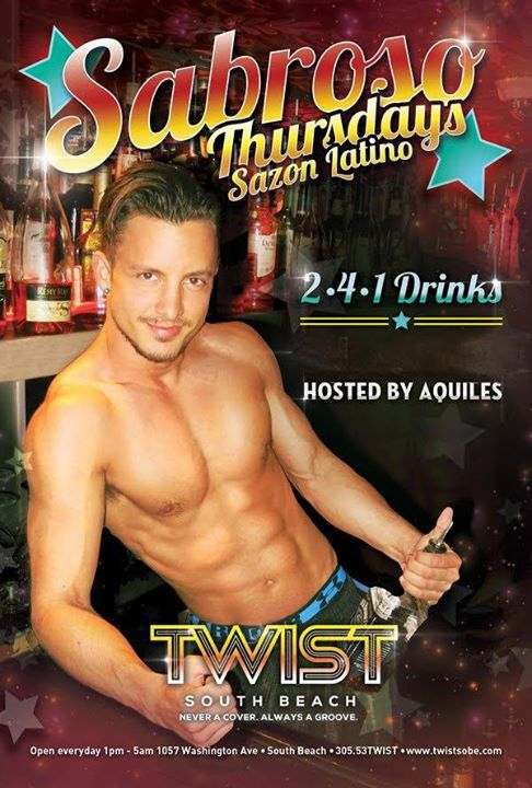 Sabroso Thursdays! in Miami le Do 18. Juli, 2019 22.00 bis 05.00 (Clubbing Gay)