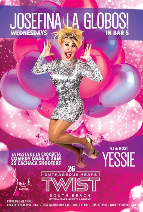 La Fiesta De La Croqueta Wednesdays! in Miami le Mi 22. April, 2020 22.00 bis 05.00 (Clubbing Gay)
