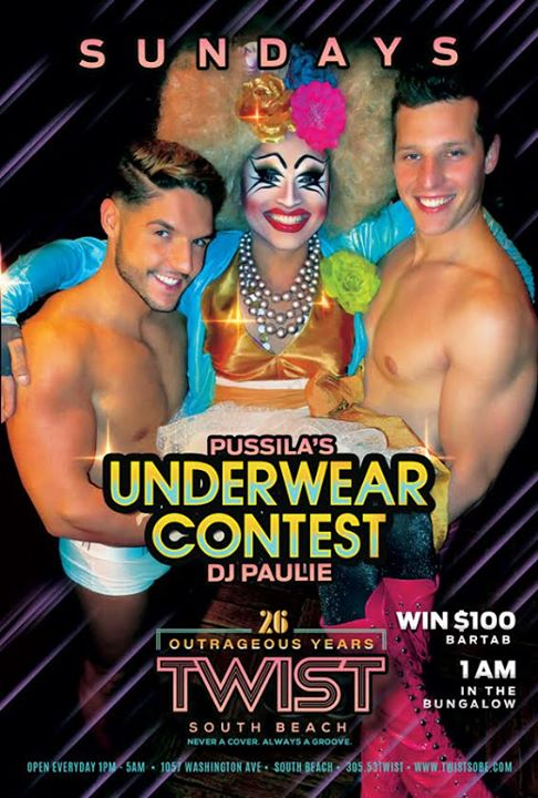 Pussila's Underwear Contest! in Miami le So 11. August, 2019 22.00 bis 05.00 (Clubbing Gay)