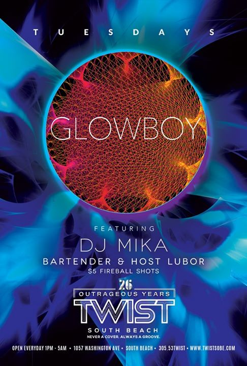Glowboy Tuesdays! in Miami le Di 14. Januar, 2020 23.00 bis 05.00 (Clubbing Gay)