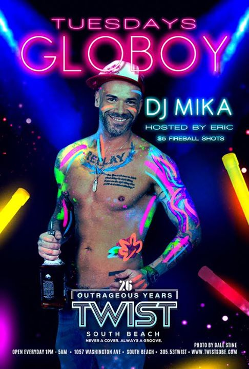 Globoy Tuesdays! in Miami le Di  3. März, 2020 23.00 bis 05.00 (Clubbing Gay)