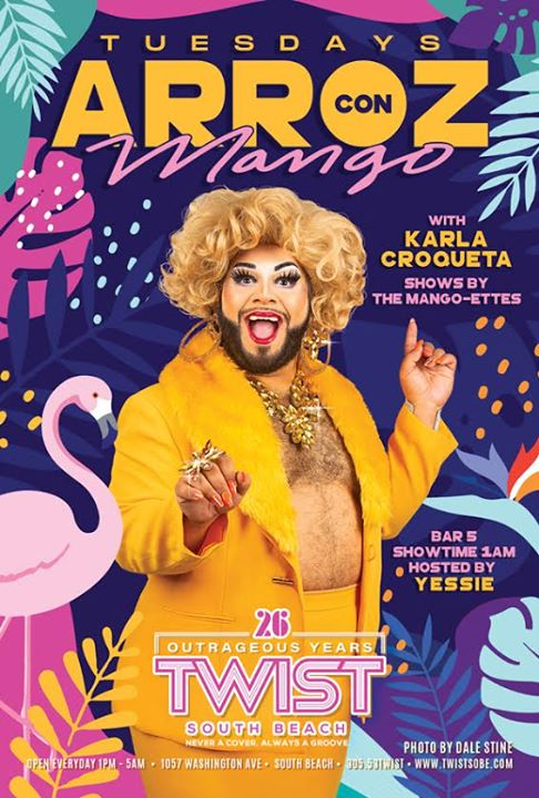 Arroz con Mango Tuesdays! in Miami le Di 31. Dezember, 2019 01.00 bis 05.00 (Clubbing Gay)