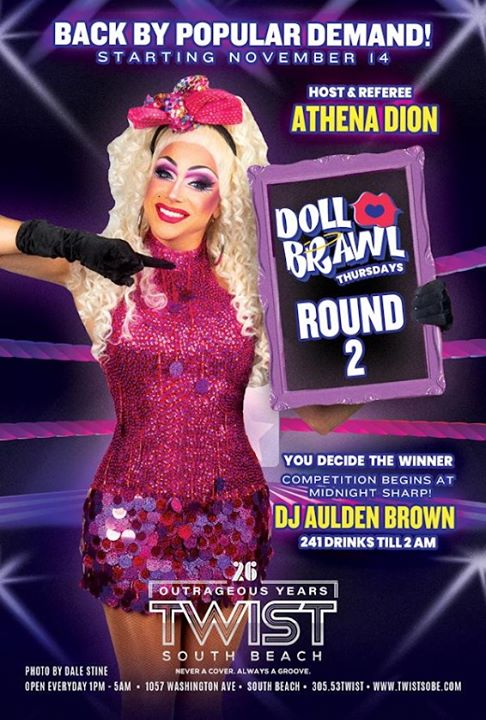 DOLL BRAWL Thursdays! en Miami le jue 14 de noviembre de 2019 23:00-05:00 (Clubbing Gay)
