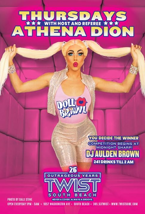 DOLL BRAWL Thursdays! a Miami le gio  2 aprile 2020 23:00-05:00 (Clubbing Gay)