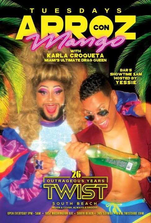 Arroz con Mango Tuesdays! in Miami le Di 19. November, 2019 01.00 bis 05.00 (Clubbing Gay)