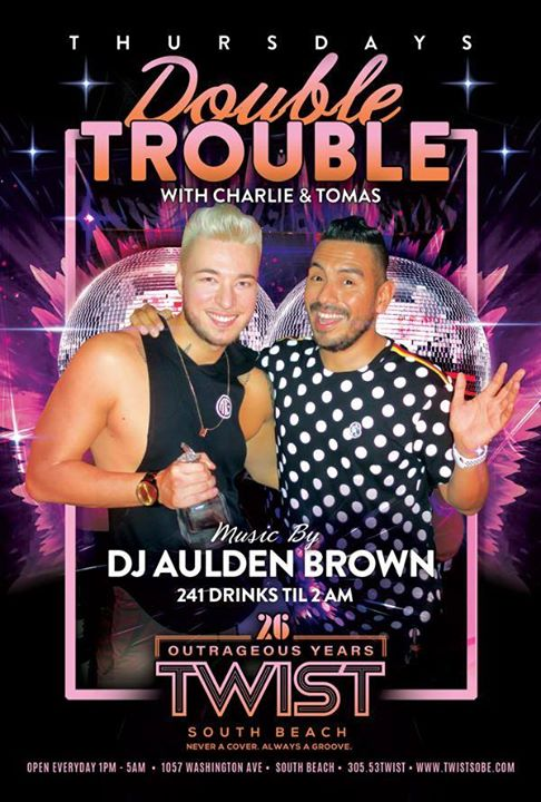 Double Trouble Thursdays em Miami le qui, 14 novembro 2019 23:00-05:00 (Clubbing Gay)