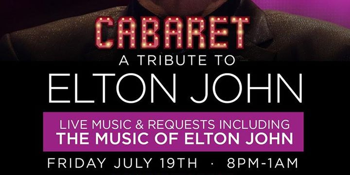Elton John Tribute! Live music piano bar! in Miami le Fr 19. Juli, 2019 20.00 bis 01.00 (Vorstellung Gay Friendly)