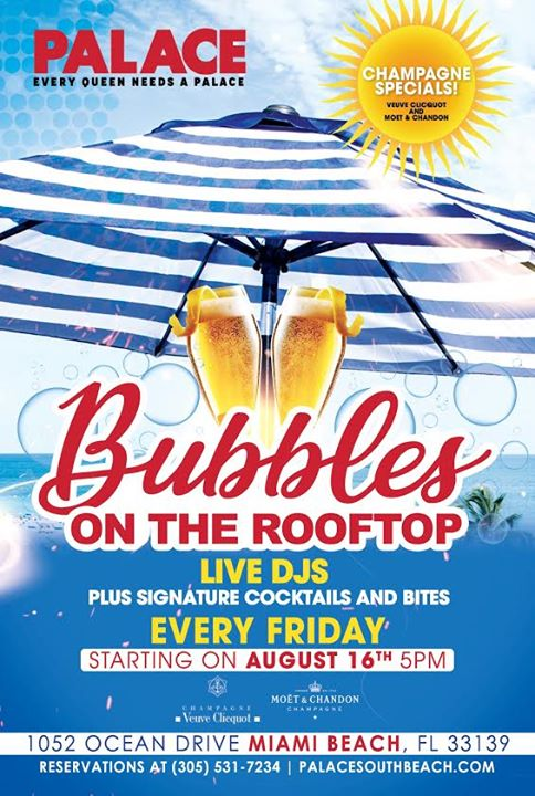 MiamiBubbles on the Rooftop2019年 4月22日,16:00(男同性恋 下班后的活动)