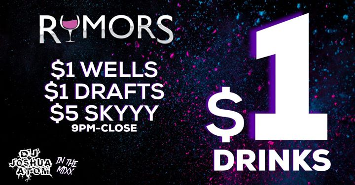 Rumors Dolla Drink Night! in Wilton Manors le Wed, July 17, 2019 from 09:00 pm to 02:00 am (Clubbing Gay)