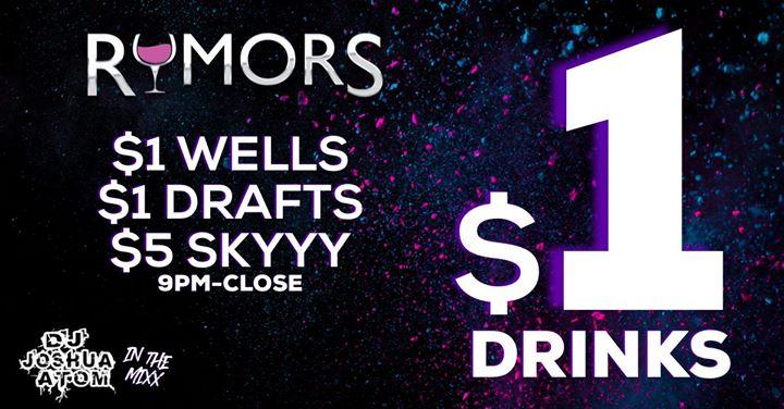 Wilton ManorsRumors Dolla Drink Night!2019年 9月 6日,21:00(男同性恋 俱乐部/夜总会)