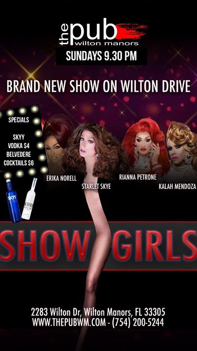 Showgirls at thePUB in Wilton Manors le Sun, August 25, 2019 from 09:30 pm to 11:30 pm (After-Work Gay)