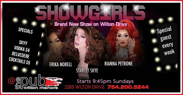 Showgirls at thePUB in Wilton Manors le Sun, September 15, 2019 from 09:30 pm to 11:30 pm (After-Work Gay)