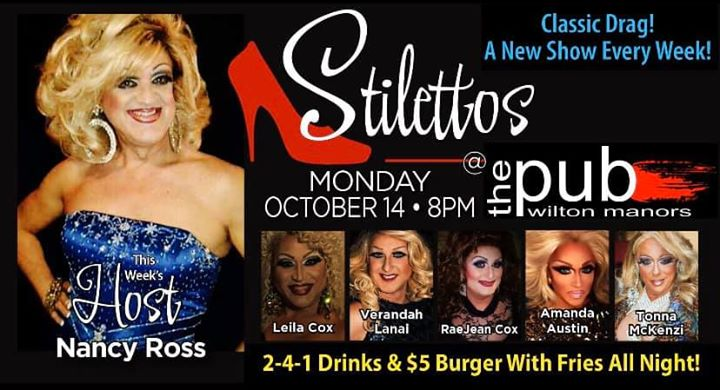 Stilettos en Wilton Manors le lun 14 de octubre de 2019 20:00-22:00 (After-Work Gay)