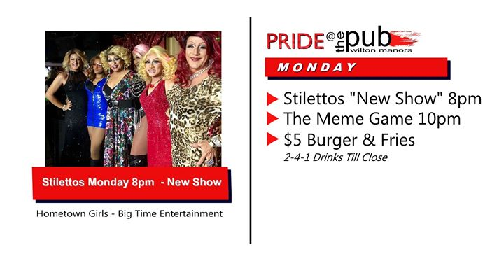Mondays @thePUB a Wilton Manors le lun  9 dicembre 2019 20:00-23:30 (After-work Gay)