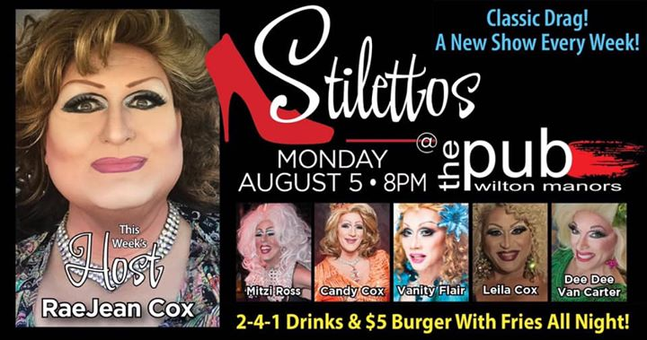 Stilettos in Wilton Manors le Mon, August  5, 2019 from 08:00 pm to 10:00 pm (After-Work Gay)