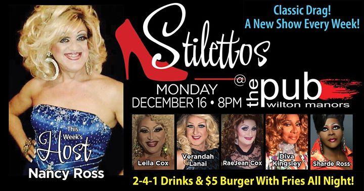 Stilettos - New Show - Classic Drag en Wilton Manors le lun 16 de diciembre de 2019 20:00-22:00 (After-Work Gay)