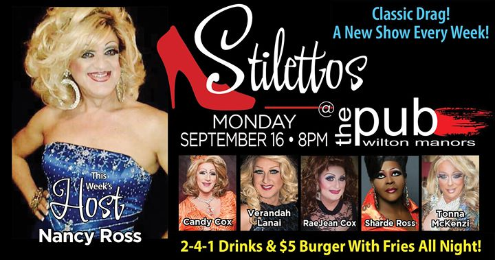 Stilettos en Wilton Manors le lun 16 de septiembre de 2019 20:00-22:00 (After-Work Gay)