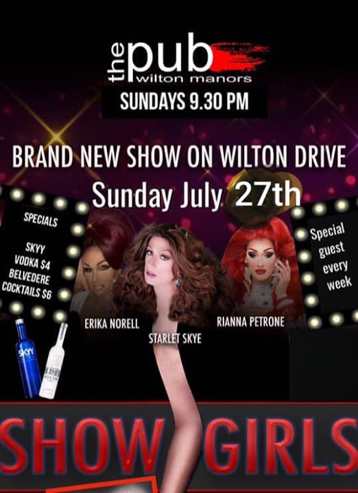 Showgirls at thePUB in Wilton Manors le Sun, July 28, 2019 from 09:30 pm to 11:30 pm (After-Work Gay)