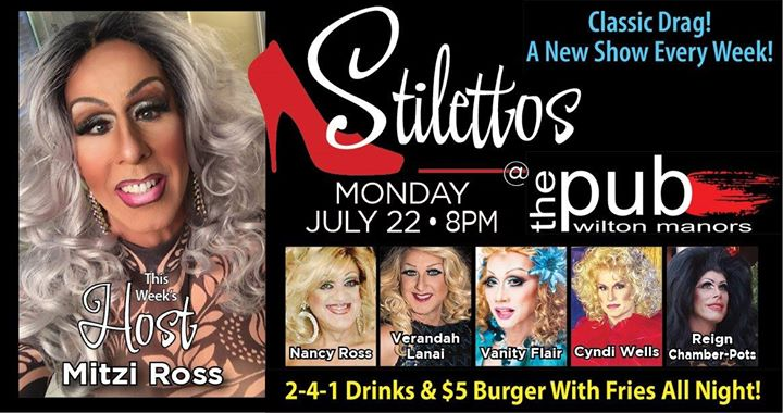 Stilettos en Wilton Manors le lun 22 de julio de 2019 20:00-22:00 (After-Work Gay)